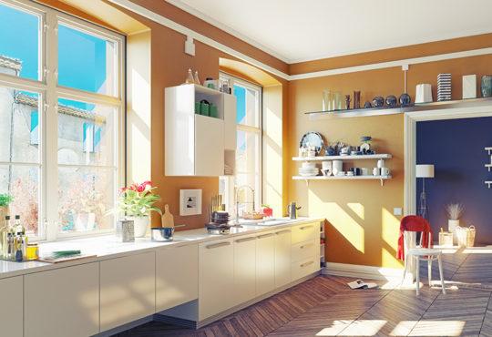 barevná kuchyň